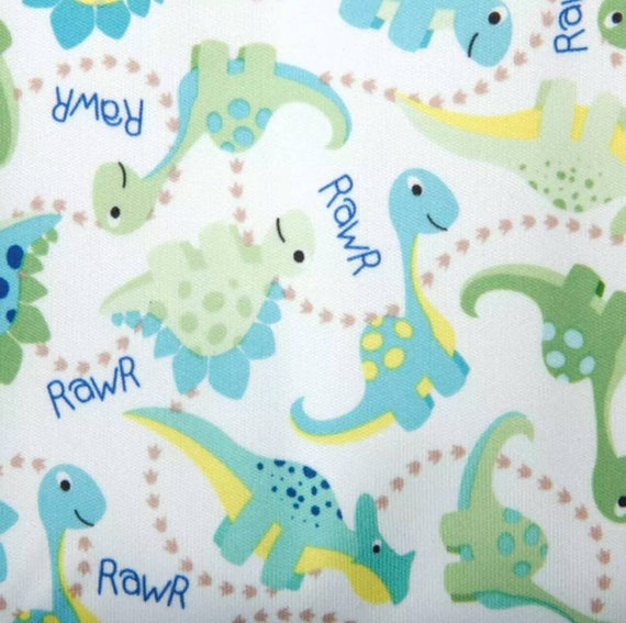 Dinosaur PUL Fabric - Babyville Fabric - Waterproof Fabric - Cloth Diaper Fabric - Bird PUL Fabric - Wet Bag Fabric