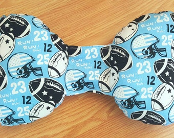 Football Infant Head Support - Torticollis - Positional Plagiocephaly - Elephant Ear Pillow - Car Seat Head Support - Baby Shower Gift