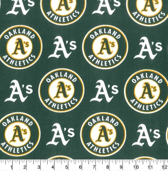 Oakland As - MLB - Sports Baseball Fabric - Oakland As Athletics