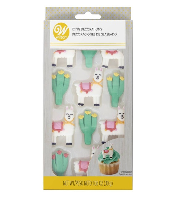 Llamas and Cactus Cupcake Toppers Llama and Cactus Cake Topper- Wilton Cake Toppers