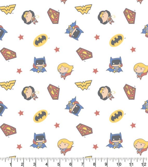 DC Comics Swaddle Blanket Fabric - Wonder Woman Fabric - Super Girl Fabric - Bat Girl Fabric - DC Comic Fabric