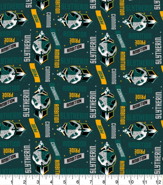 Slytherin Fabric - Hufflepuff Fabric - Harry Potter Gryffindor Fabric - Quilting Cotton Harry Potter Fabric - Ravenclaw Fabric