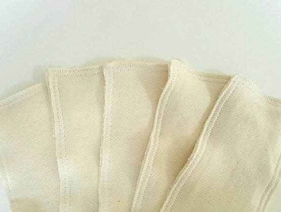Set of 6 Newborn Diaper Soaker - Bamboo Hemp Organic Cotton Fleece Insert - Cloth Diaper Doubler - Heavy Wetter Diaper Insert