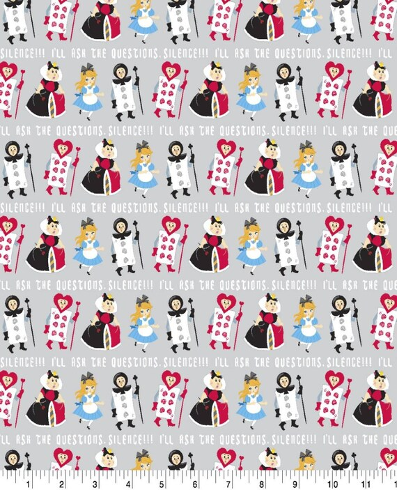 Alice in Wonderland Fabric -