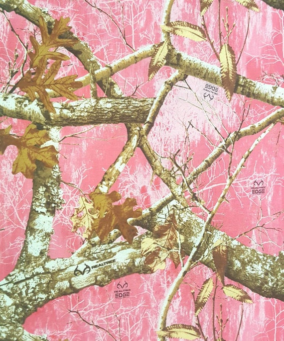 Pink Realtree Cotton Fabric - Pink Camo Fabric - Pink Camouflage Fabric