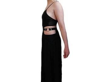 53c63662 Bitching and Junkfood black bondage Mariana maxi dress. Size M UK 10. BNWT.  RRP: 99 pounds