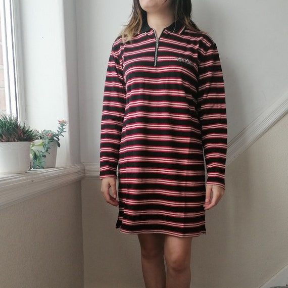 BNWT kickers Jersey Red and black t shirt dress. S