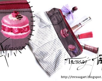 Makeup macarons cassis raspberry purple pastel bow