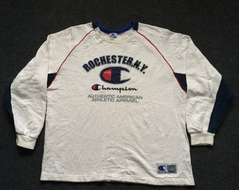 On Sale 28% Vintage Champion Rochester N.Y Hip Hop Sport Mods Indie 90s 80s Sweater