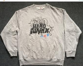 On Sale 28% Vintage Authentic The Super Hero Avirex 90s Sport Hip Hop Sport Mods Indie Sweater