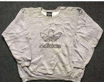 On Sale 28% Vintage Adidas Sweater Hip Hop Mods Indie 90s Sweater