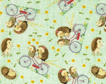 MTO Adjustable, Snapped Bandana Bib XXS-XXL You Can Tell It's Spring When You Start Seeing Hedgehogs Riding Bikes