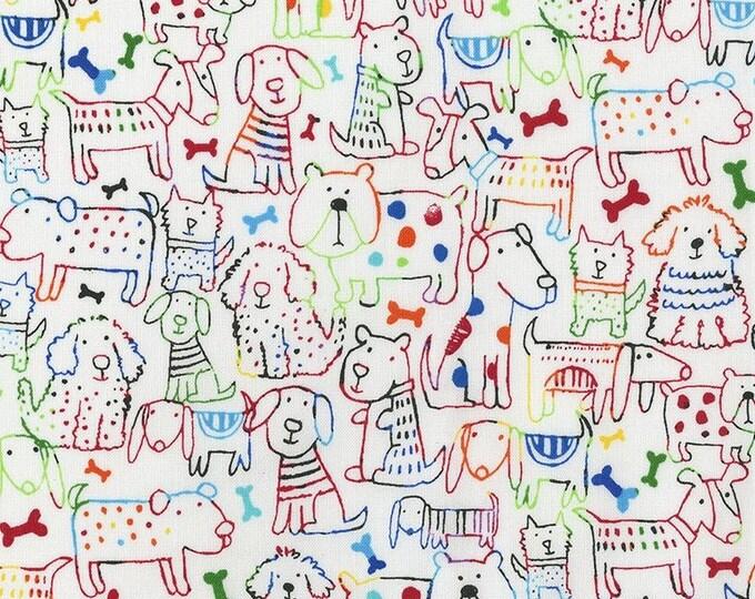 XXS-XXL Sketched Dogs on Tie Dye Bandana