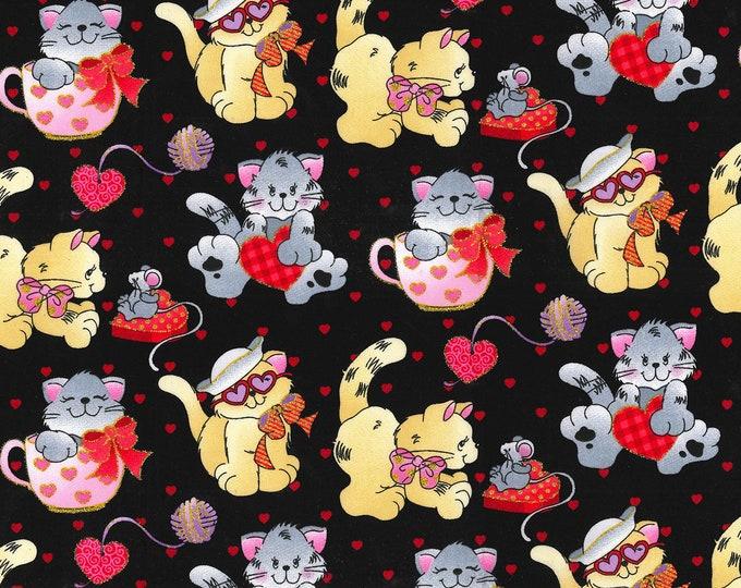 XXS-XXL Glittery Love Kittens Bandana