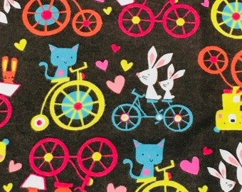 XS-XXL Animals on Bikes Bandana Bib
