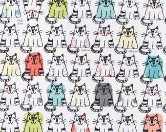XXS-XXL Colorful Triangle Cats All in a Row Bandana