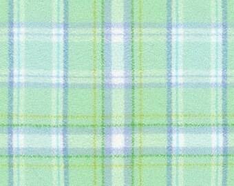 XXS-XXL Shades of Mint Plaid Bandana Bib  - Reversible or Frayed
