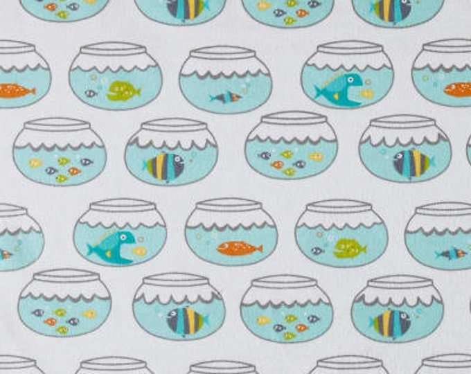 MTO Adjustable, Snapped Bandana Bib XXS-XXL Fish Swimming in Circles