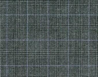 XXS-XXL Gray Plaid with Thin Turquoise Stripe Frayed Bandana