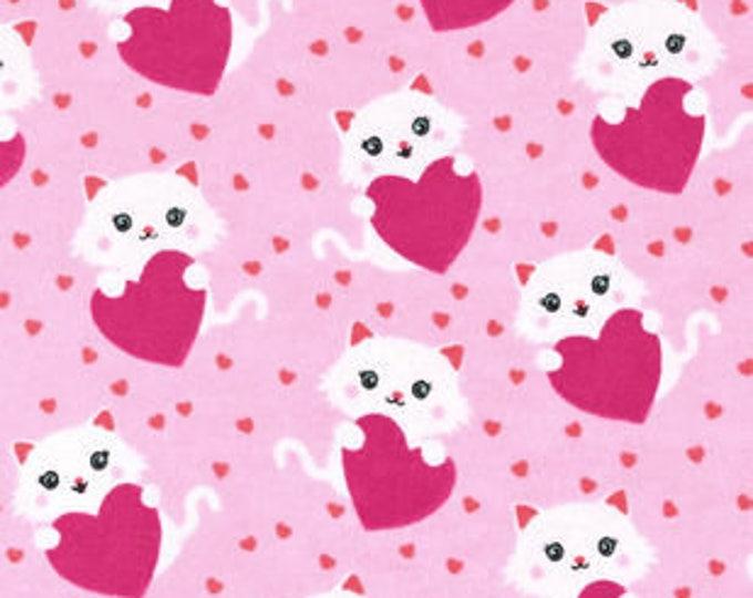 XXS-XXL Sweet Pink Kitties and Hearts Bandana