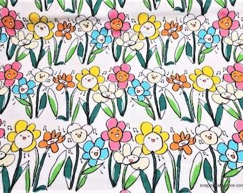 S-XXL Whimsical Singing Flowers Bandana Bib