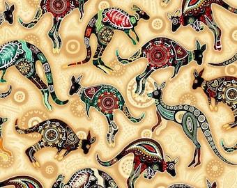 XXS-XXL Aboriginal Design Kangaroo Bandana Bib