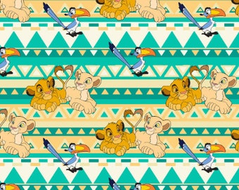 Lion King Fabric by the Yard (351), Cotton Fabric Multiple Cuts Available
