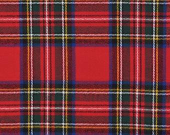 XXS-M Red, Green, Black, Blue Classic Tartan Frayed Bandana