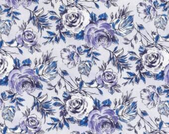 XXS-XXL Sketched Purple Roses Bandana