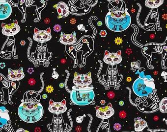 XXS-XXL Sugar Skull Day of the Dead Kitty Bandana Bib