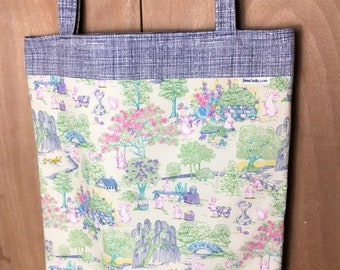 Fully Lined 15.5X19 Easter Prep in Bunnytown Tote Bag