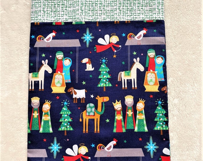 Fully Lined 10X15 Whimsical Nativity Gift Bag