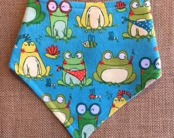 S-XL Frog Bandana Bib