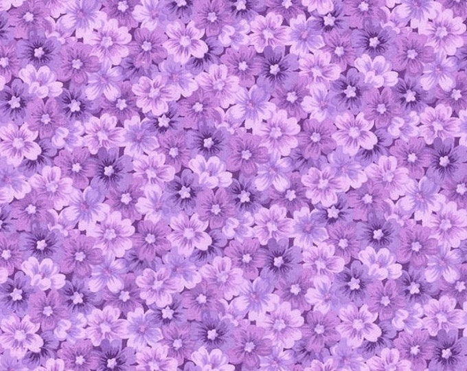 Bandana Bib XXS-XXL Packed Purple Flowers