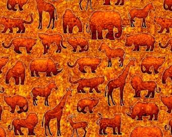 XXS-XXL Serengeti Animal Silhouette Bandana Bib