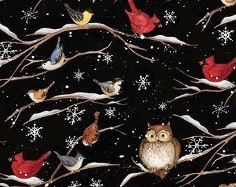 XS-XXL Birds in the Trees in Winter Bandana Bib