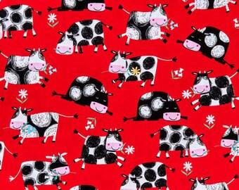 XXS-XXL Happy Cows on Red Bandana Bib