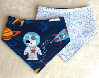 M-XXL Astronaut Dog Bandana Bib Reversible