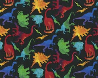 XXS-XS Colorful Dinosaurs on Black Bandana