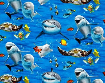 XXS-XS Ocean Animal Selfie Bandana Bib