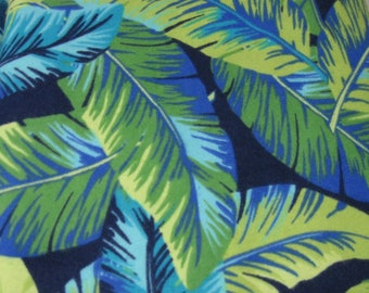 XXS-XXL Blue and Green Leaves Bandana