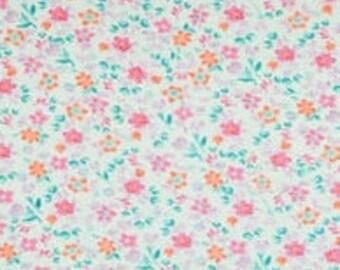 XXS-XXL Pink Flowers on Blue Bandana Bib