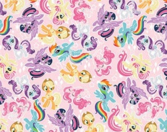 My Little Pony Fabric by the Yard (193), Cotton Fabric 24x20