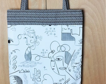 Fully Lined 14x18 The Face Is, After All, Nothing More or Less Than a Mask Tote Bag