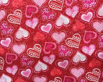 XXS-XXL Glittery Hearts Bandana