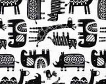 XS-XXL  Bandana Black and White Tribal Animal Bandana