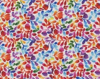 XXS-XXL Rainbow Watercolor Vines Bandana Bib