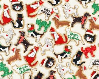 XXS-XXL Cat and Dog Christmas Cookies Bandana Bib