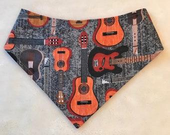 XXS-XXL Banjos and Guitars Bandana Bib