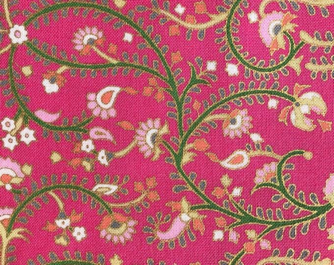 XXS-XXL Vines on Bright Pink Floral Bandana